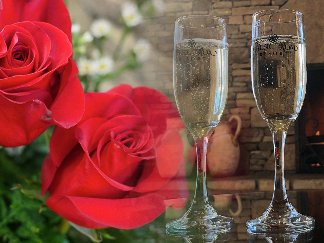 Valentine's Package with Roses and Champagne at Music Road Resort