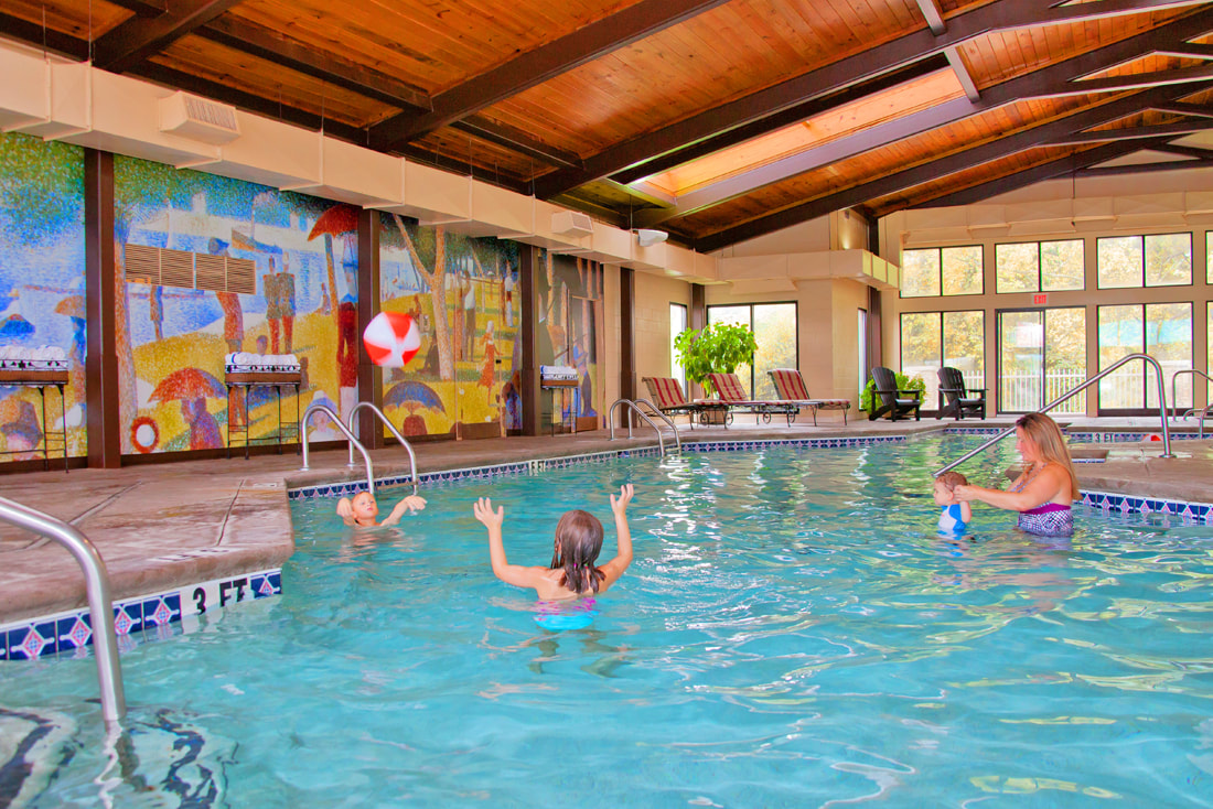 Heated indoor pool at Music Road Resort Hotel